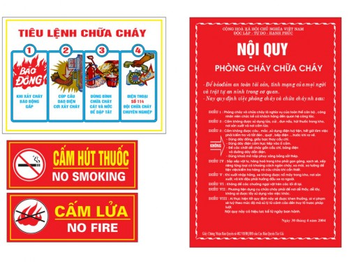 Fire safety instructions - Ceotech